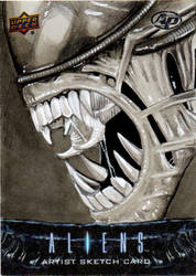 UD Aliens Sketch Card - Xenomorph by amines1974