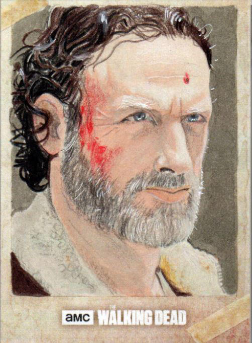 Rick Grimes - The Walking Dead Road Artist Proof by amines1974