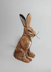 Paper cut Hare sculpture by ZackMclaughlin
