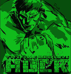 Hulk in green by tiduszoe