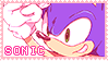 Pastel Pink Sonic Stamp by SweaterHedgie