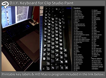 DIY Clip Studio Macro Keyboard by scificat