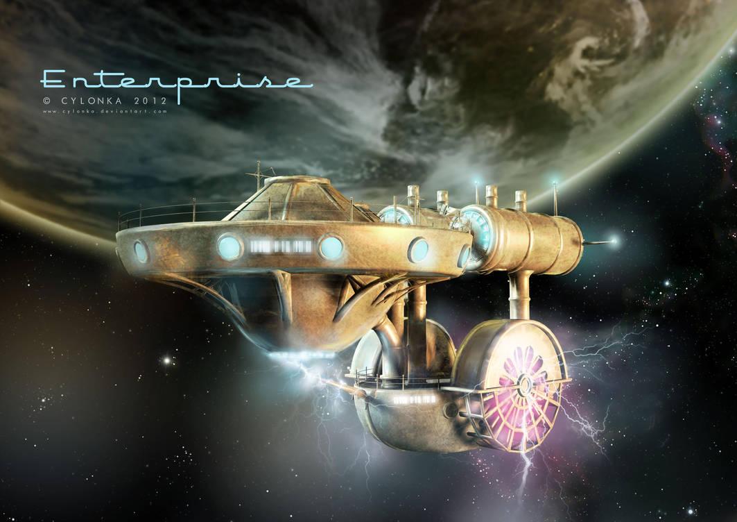 Steam Punk  Enterprise by cylonka