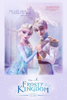 Elsa and Jack Frost in Frosty Kingdom by cylonka