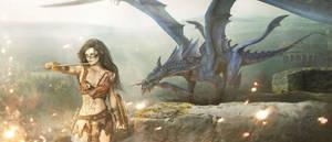 Dragon Blue by cylonka