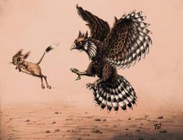 Eagle and Jerboa (color version) by Drakonessa-Tsi