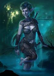 Mystical elf girl - genesis by Maximko