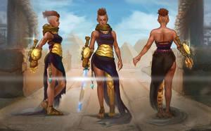 Nubian Warrior Queen by Maximko
