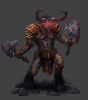 DC: Razorfang the Minotaur by GraphicGeek