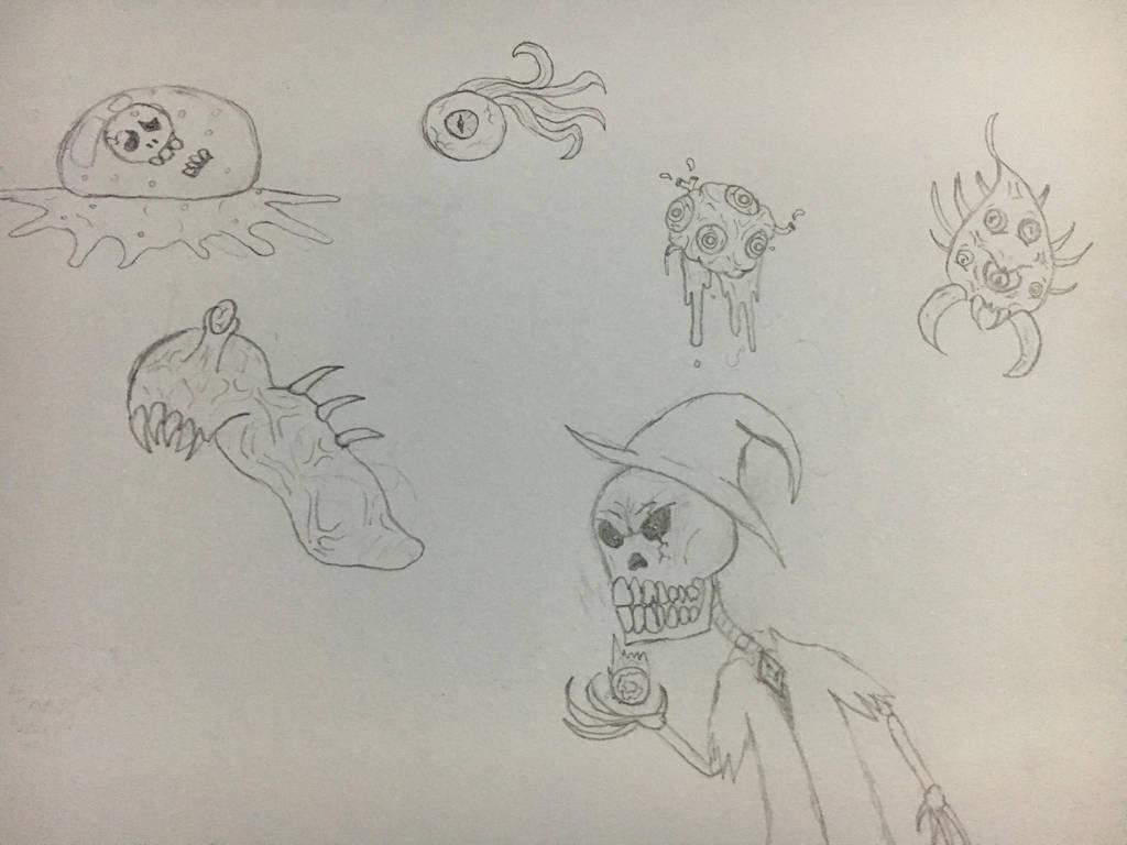Terraria Monster Doodles by RazesHellFanboy