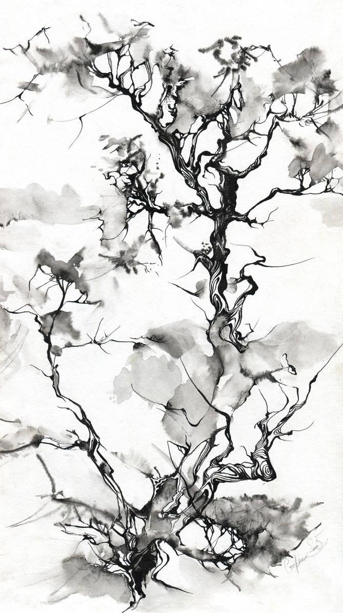 Ink tree by OlgaSternik