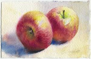 Two apples by OlgaSternik
