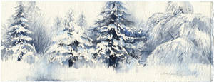 Snowy trees by OlgaSternik