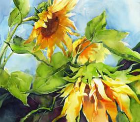 Sunflowers by OlgaSternik