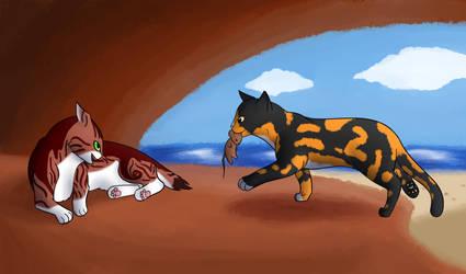 Seasick Collab - Lynxheart and Pumpkinwish by Zichqec