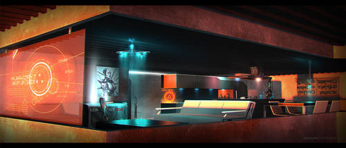 Near Future Interior SciFi Concept Art 03 by ShaunSherman