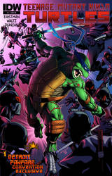 TMNT-Leo vs Foot by Robert Atkins - Colors by TrinityMathews