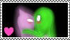 Sneaker and greenie stamp by Missesamy930