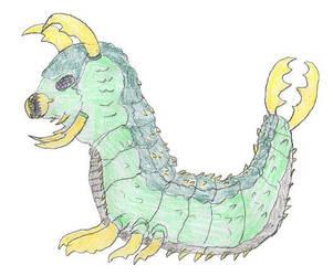 Gigamoth Larva- by Dinalfos5 by Godzilla-Club
