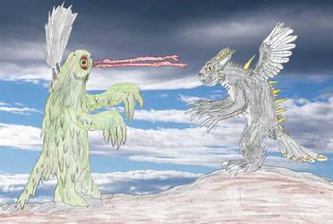 Togerodo vs. Hedorah by Godzilla-Club