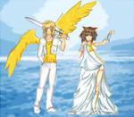 Second Entry-Gabriel and Ariel by Yas-mi-ne
