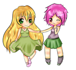 Girls Chibi COMMISSION by Yas-mi-ne
