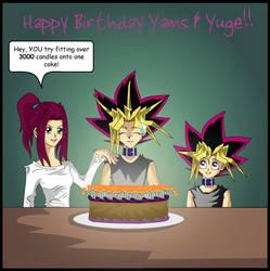 Happy Birthday Yami and Yugi by Enjoumou