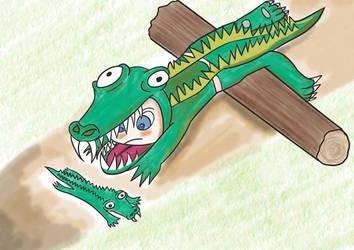 Commissions: Chibi Croc by Sazazezer