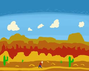 In the desert by Sazazezer