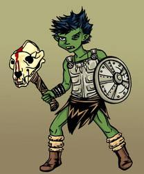 Gnome Barbarian by Enedlammeniel