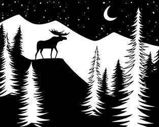 Moose by Enedlammeniel