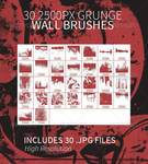 30 Grunge Wall Photoshop Brushes by JamesRuthless
