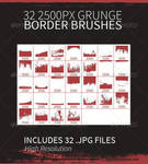 32 Grunge Border Brushes by JamesRuthless