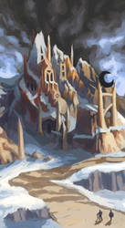 Castle in the Mountain by BobShmob
