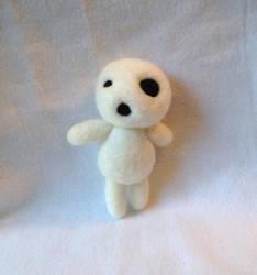 Felted Kodama plushie - Princess Mononoke by XOFifi