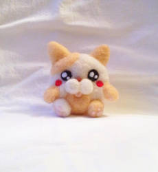 Fat Felted Cat plushie by XOFifi
