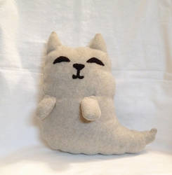 Fluffy Ghost Cat plushie by XOFifi