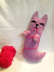 Long Ghost Cat Plushie by XOFifi