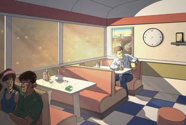 Endless Diner Commission by LightBombMike