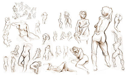 Life Drawing by rhianimated