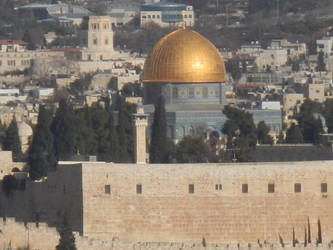 The Dome of the Rock from Afar by wayne234