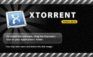 Xtorrent DMG background by dennisRVR