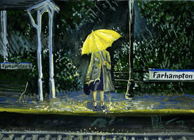 Yellow umbrella 2 by Redilion