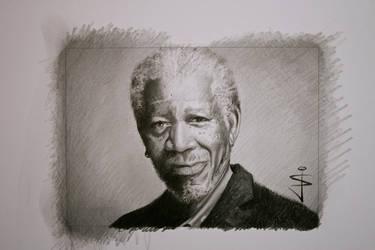 Morgan Freeman Speed Art on YouTube by NorthumbrianArtist