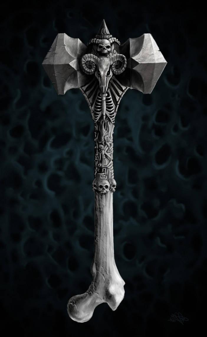 Necromantic Hammer by DreddaBrutallac