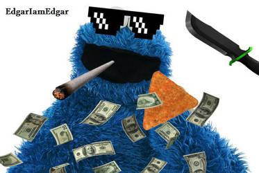Cookie Monster Mlg Dorito Monster By Edgariamedgar On Deviantart