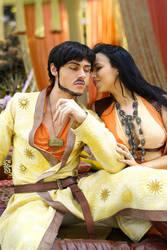 Oberyn Martell and Ellaria Sand - Cosplay by Aicosu