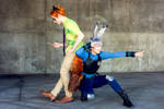 Zootopia Cosplay: Nick and Judy by Aicosu