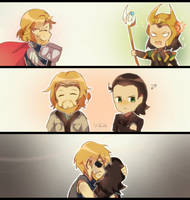 thor and loki | FanArt by ckaitlyn