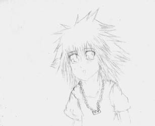 Kawaii Sora Lineart by DigiMoon93